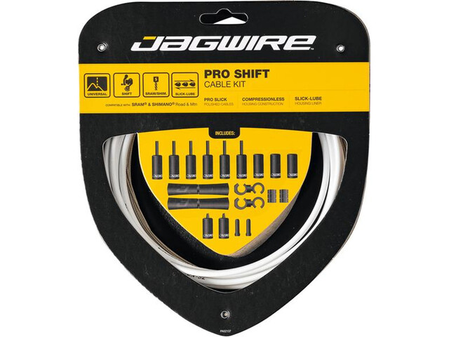 Jagwire 2X Pro Shift Schakelkabel Set, wit